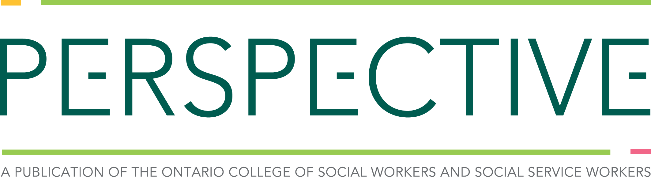 Perspective - A Publication of the Ontario College of Social