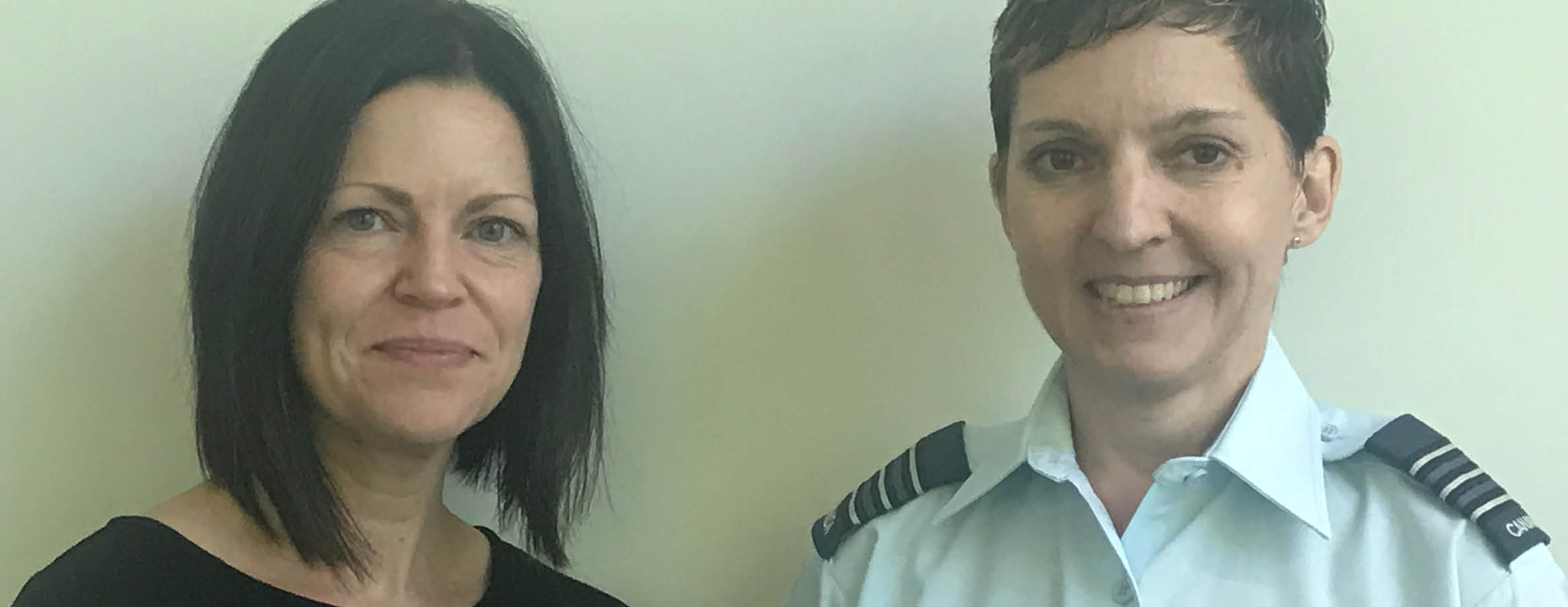 Marie-Lucie Bedard and LCol Suzanne Bailey